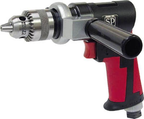 【メーカー在庫あり】 エス.ピー.エアー(株) SP 超軽量低速スポットドリル10mm(正逆回転機構付き) SP-7520 HD