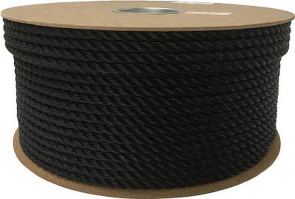 【メーカー在庫あり】 (株)ユタカメイク ユタカ ポリエチレンロープドラム巻 9mm×150m ブラック PRE-54 HD