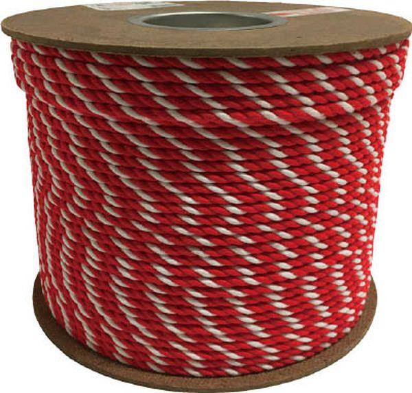 【メーカー在庫あり】 (株)ユタカメイク ユタカ アクリル紅白ロープ 6mm×200m PRZ-10 HD