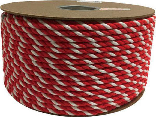 【メーカー在庫あり】 (株)ユタカメイク ユタカ アクリル紅白ロープ 9mmm×150m PRZ-55 HD