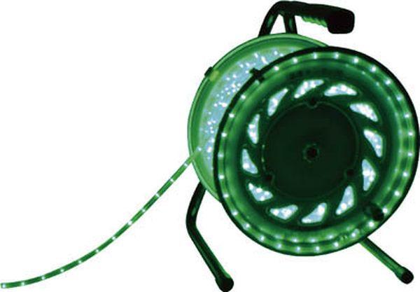 【メーカー在庫あり】 日動工業(株) 日動 LEDラインチューブドラム緑 RLL-30S-G HD