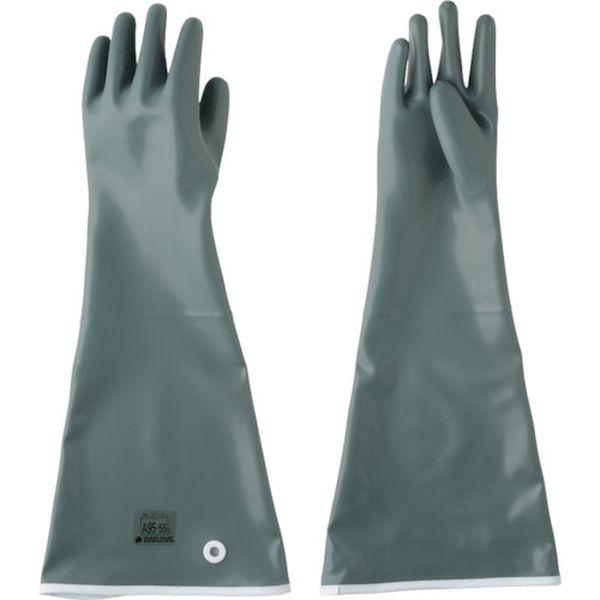 【メーカー在庫あり】 DA9555L ダイヤゴム(株) DAILOVE 耐酸・耐アルカリ用手袋 ダイローブA95-55(L) DA95-55-L HD店