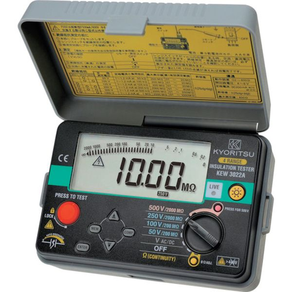 【メーカー在庫あり】 共立電気計器(株) KYORITSU 3022A デジタル絶縁抵抗計 KEW3022A HD店