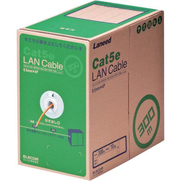 【メーカー在庫あり】 LDCT2DR300RS エレコム(株) エレコム EU RoHS指令準拠LANケーブル CAT5E 300m オレンジ LD-CT2/DR300/RS HD店