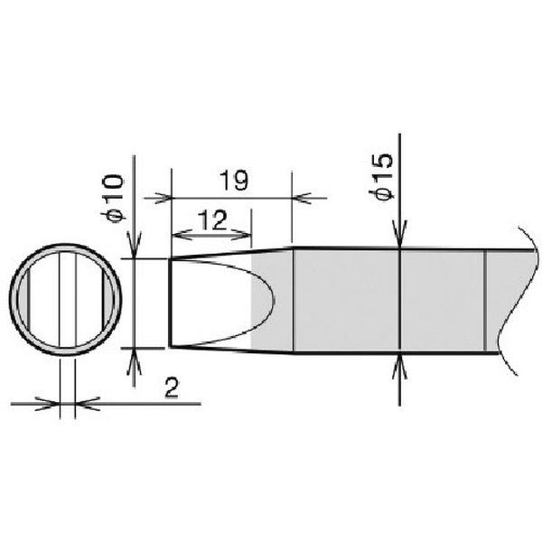 【メーカー在庫あり】 RX89HRT10D 太洋電機産業(株) グット 替こて先 RX-892AS用 10D RX-89HRT-10D HD店
