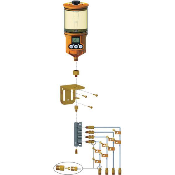 【メーカー在庫あり】 ザーレン・コーポレーション(株) パルサールブ OL500オイル用 遠隔設置キット(4箇所) 1250RO-4 HD