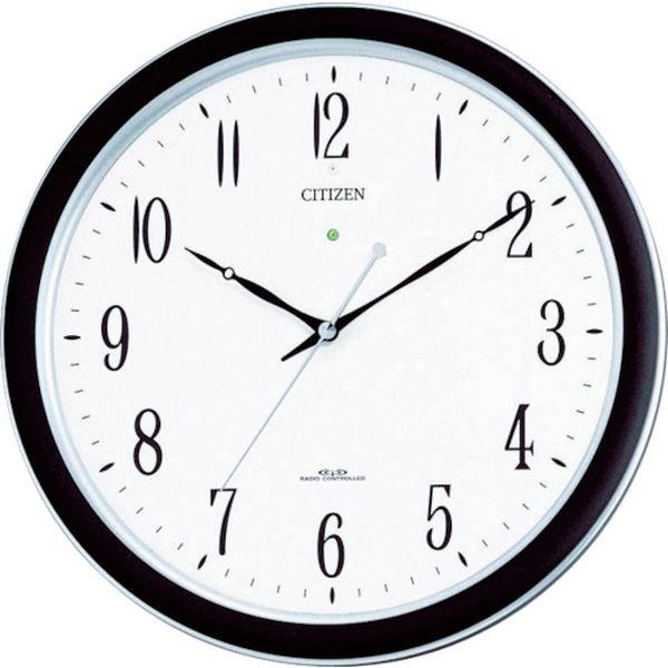 【メーカー在庫あり】 リズム時計工業(株) シチズン ネムリーナM691F(電波掛時計)プラスチック枠シルバーメタリック 4MY691-N19 HD
