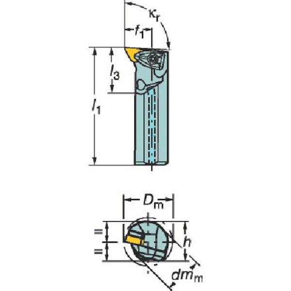 【メーカー在庫あり】 サンドビック(株) サンドビック コロターンRC ネガチップ用ボーリングバイト A50U-DDUNR 15 HD
