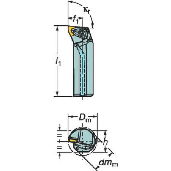 【メーカー在庫あり】 サンドビック(株) サンドビック コロターンRC ネガチップ用ボーリングバイト A50U-DWLNL 08 HD
