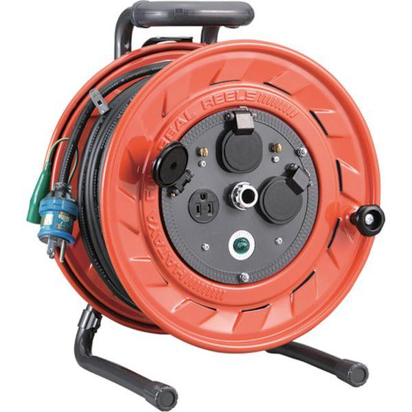 【メーカー在庫あり】 (株)ハタヤリミテッド ハタヤ 単相100V型コードリール 30m アース付 AP-301K HD
