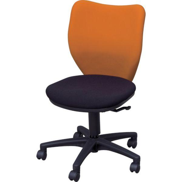 【メーカー在庫あり】 アイリスチトセ(株) アイリスチトセ オフィスチェア ミドルバックタイプ オレンジ・ブラック BIT-BX45-L0-F-OGBK HD