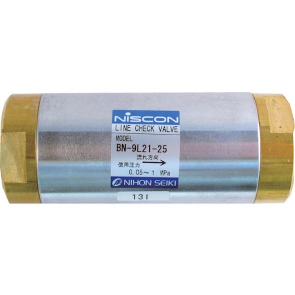 【メーカー在庫あり】 日本精器(株) 日本精器 ラインチェック弁 25A BN-9L21-25 HD