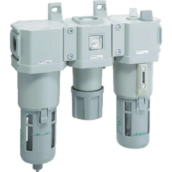 【メーカー在庫あり】 CKD(株) CKD FRLコンビネーション C4000-10-W-F HD