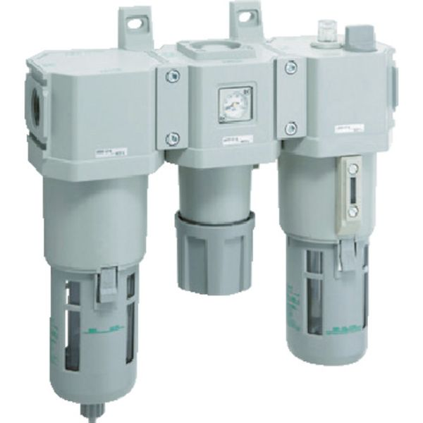 【メーカー在庫あり】 CKD(株) CKD FRLコンビネーション C4000-15-W-F HD