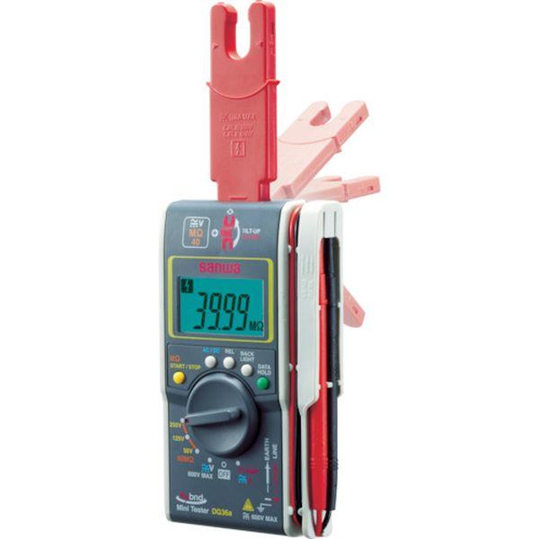 三和電気計器(株) SANWA ハイブリッドミニ絶縁抵抗計(3レンジ絶縁抵抗計+クランプ) DG36A HD