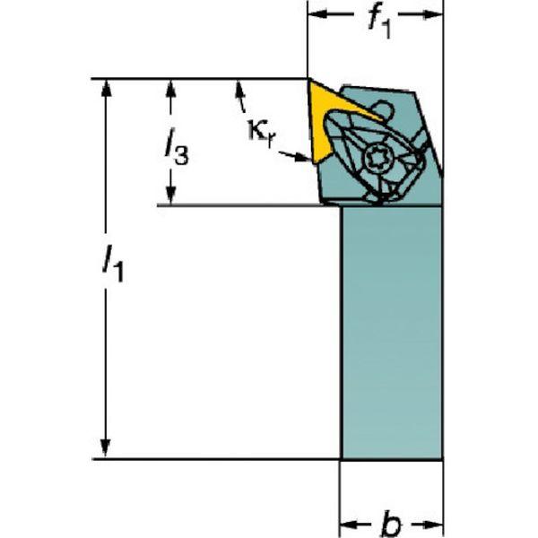 【メーカー在庫あり】 サンドビック(株)コロマントカンパ サンドビック コロターンRC ネガチップ用シャンクバイト DTJNL HD