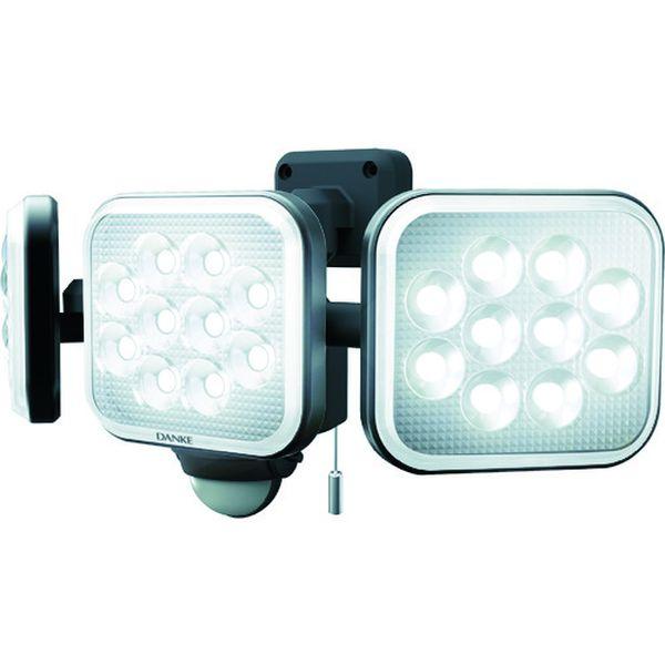 【メーカー在庫あり】 (株)ムサシ ダンケ 12W×3灯 フリーアーム式LEDセンサーライト E40336 HD店