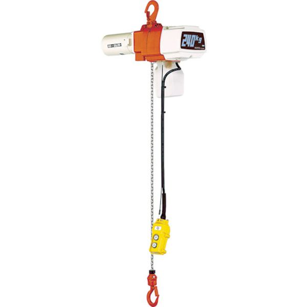 【メーカー在庫あり】 (株)キトー キトー セレクト電気チェーンブロック2速 単相200V240kg(ST)x3m EDX24ST HD