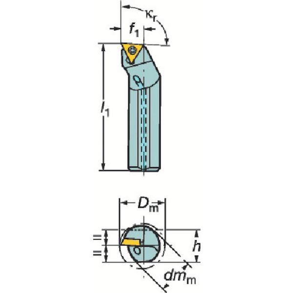 【メーカー在庫あり】 サンドビック(株) サンドビック コロターン107 ポジチップ用超硬防振ボーリングバイト F12Q-STFCR 09-R HD
