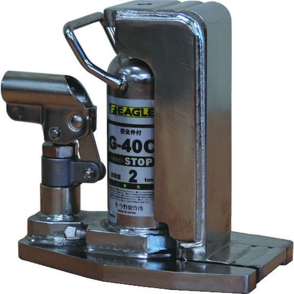 【メーカー在庫あり】 G40C (株)今野製作所 イーグル クリーンルームレバー回転爪つきジャッキ 爪能力2t G-40C HD