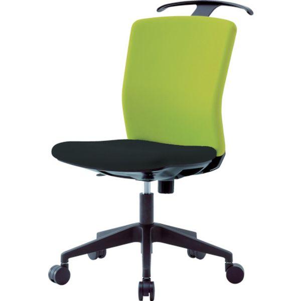 【メーカー在庫あり】 アイリスチトセ(株) アイリスチトセ ハンガー付回転椅子(フリーロッキング) グリーン/ブラック HG-X-CKR-46M0-F-LGN HD