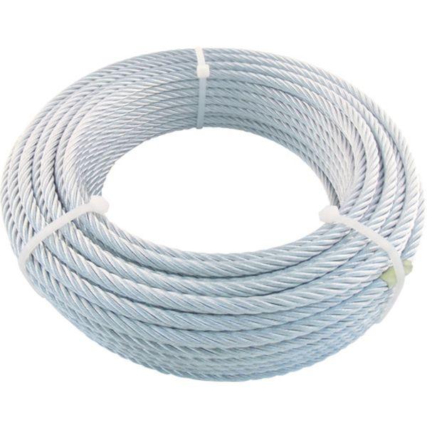 【メーカー在庫あり】 トラスコ中山(株) TRUSCO JIS規格品メッキ付ワイヤロープ (6X19)Φ6mmX50m JWM-6S50 HD