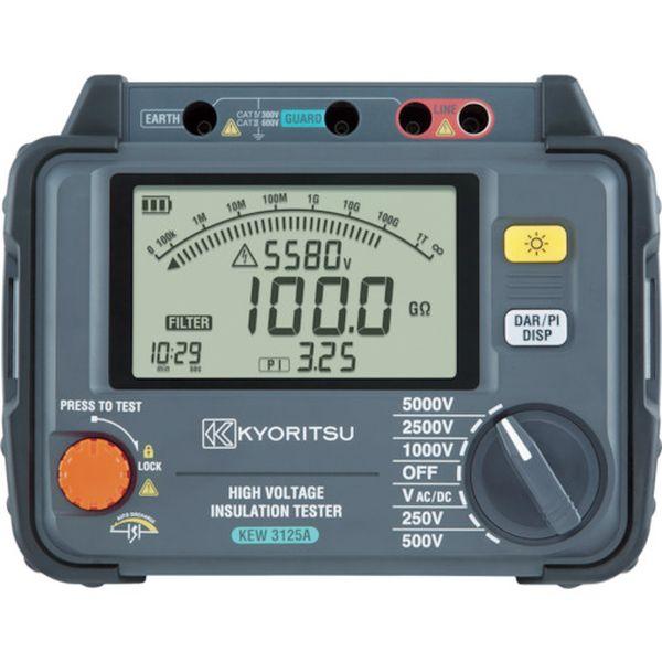 【メーカー在庫あり】 共立電気計器(株) KYORITSU デジタル高圧絶縁抵抗計 KEW3125A HD