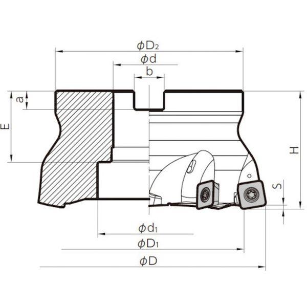 【メーカー在庫あり】 MFH160R148T 京セラ(株) 京セラ ミーリング用ホルダ MFH160R-14-8T HD店