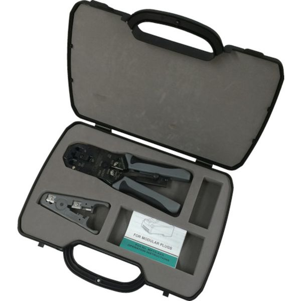【メーカー在庫あり】 パンドウイットコーポレーション パンドウイット モジュラプラグ圧着工具 マルチタイプ ケース付キット MPT5E-KIT HD