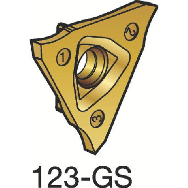 【メーカー在庫あり】 サンドビック(株) サンドビック コロカット3 突切り・溝入れチップ 1125 10個入り N123U3-0225-0000-GS HD