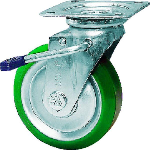 【メーカー在庫あり】 シシクSISIKUアドクライス(株 シシク スタンダードプレスキャスター ウレタン車輪 自在ストッパー付 250径 UWJB-250 HD