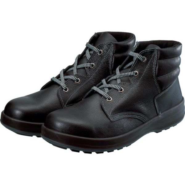 【メーカー在庫あり】 WS22BK24.5 (株)シモン シモン 3層底安全編上靴 WS22BK-24-5 HD店