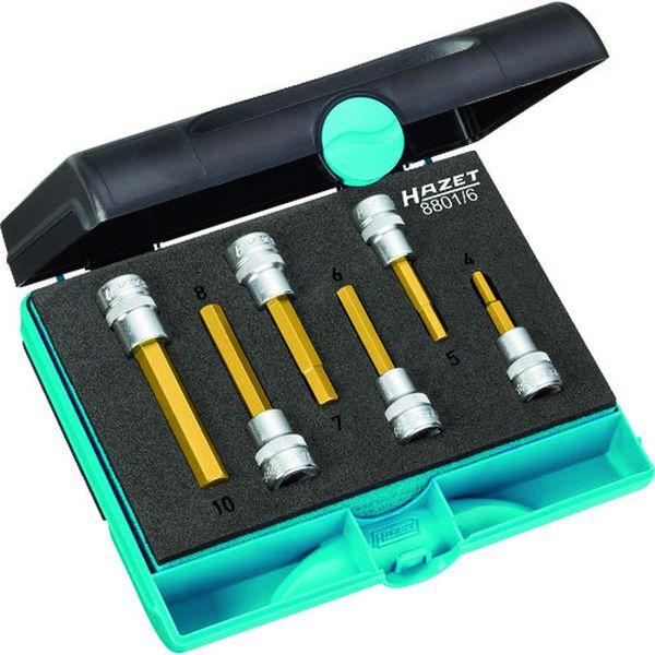 【メーカー在庫あり】 HAZET社 HAZET ヘックスドライバーソケットセット(差込角9.5mm) ケース入り 8801HS6 HD店
