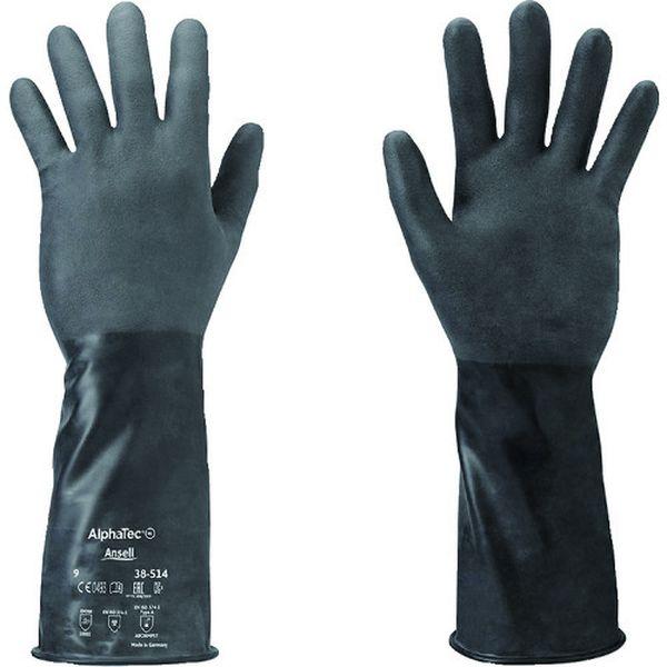 【メーカー在庫あり】 385149 アンセル 耐薬品手袋 アルファテック 38-514 Lサイズ 38-514-9 HD店