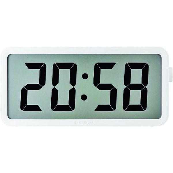 【メーカー在庫あり】 DTC001W (株)キングジム キングジム 電波掛時計 ザラ-ジ タイマ-クロック DTC-001W HD店