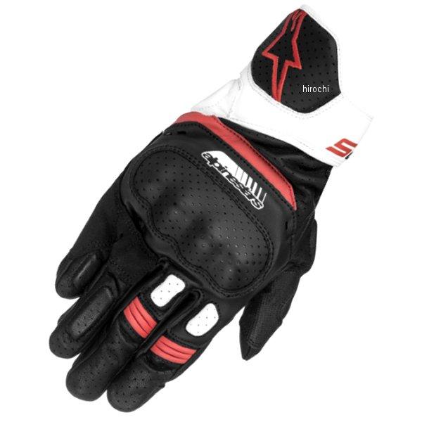 【メーカー在庫あり】 アルパインスターズ Alpinestars 春夏モデル レザーグローブ SP-5 黒/白/赤 Mサイズ 8021506614845 JP店