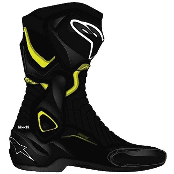 アルパインスターズ Alpinestars 春夏モデル ロードレーシングブーツ SMX-6 黒/蛍光黄 38サイズ (24cm) 8021506618119 JP店