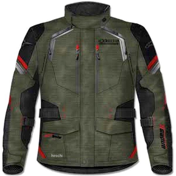 アルパインスターズ Alpinestars 春夏モデル ジャケット ANDES 2 DRYSTAR ミリタリーグリーン/黒/赤 XLサイズ 8021506624691 JP店