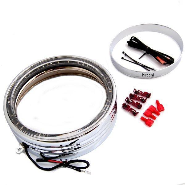 【USA在庫あり】 クリアキン Kuryakyn LED ヘッドライト トリムリング 7インチ FLソフテイル クローム 7750 JP店