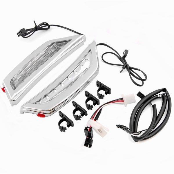 【USA在庫あり】 クリアキン Kuryakyn フェアリング インテイク スクープ 白 ランニング ライト付き 12年以降 GL1800 クローム 3903 JP店