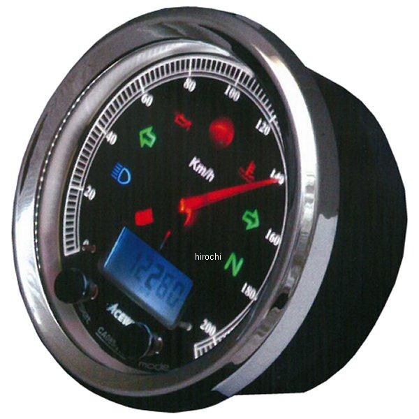 エースウェル ACEWELL 多機能デジタルメーター 150Km/H 黒パネル CA085-152-B JP店