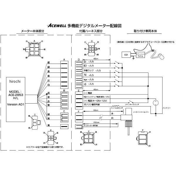 imgrc0065342868 hirochishop rakuten global market ace 2853l acewell multi acewell 2853 wiring diagram at bayanpartner.co
