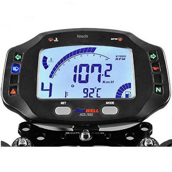【メーカー在庫あり】 エースウェル ACEWELL 多機能デジタルメーター 12V ACE-7652 JP店