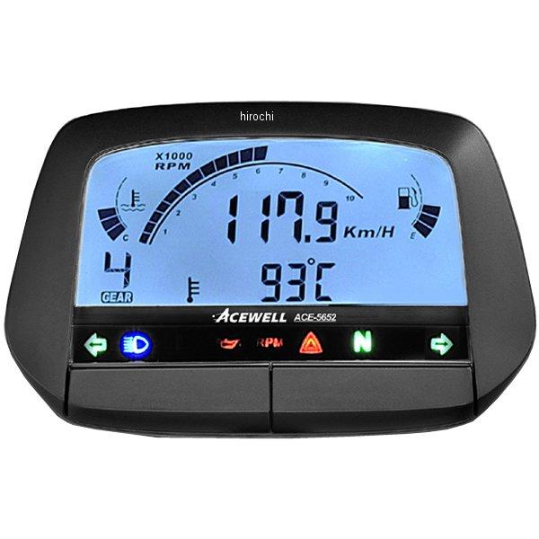 【メーカー在庫あり】 エースウェル ACEWELL 多機能デジタルメーター 黒ボディ ACE-5652B JP店