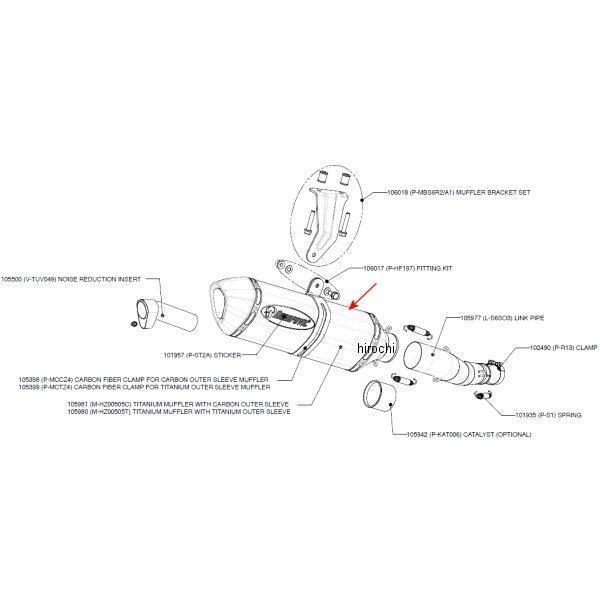 アクラポビッチ AKRAPOVIC リペアサイレンサー Z-TYPE E1仕様 GSX-R750 カーボン 60/350/70X50 M-HZ00505C JP店