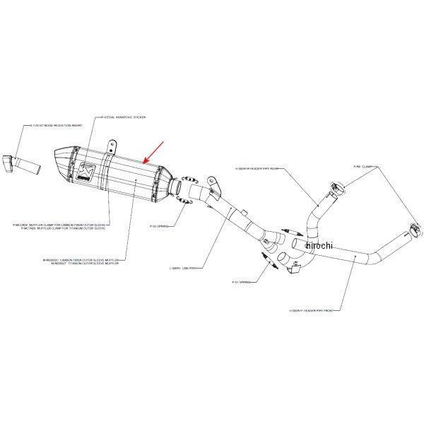 アクラポビッチ AKRAPOVIC リペアサイレンサー R-TYPE 04年-10年 DL650 Vストローム カーボン M-R02502C JP店