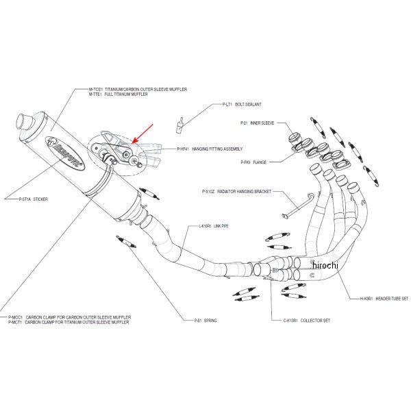 アクラポビッチ AKRAPOVIC フィッティングキット エボリューションライン 03年-05年 Z1000 P-HF41 JP店