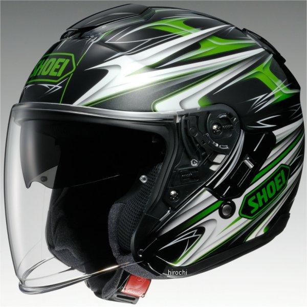 ショウエイ SHOEI ヘルメット J-CRUISE CLEAVE TC-4 緑/黒 Mサイズ 4512048440374 JP店