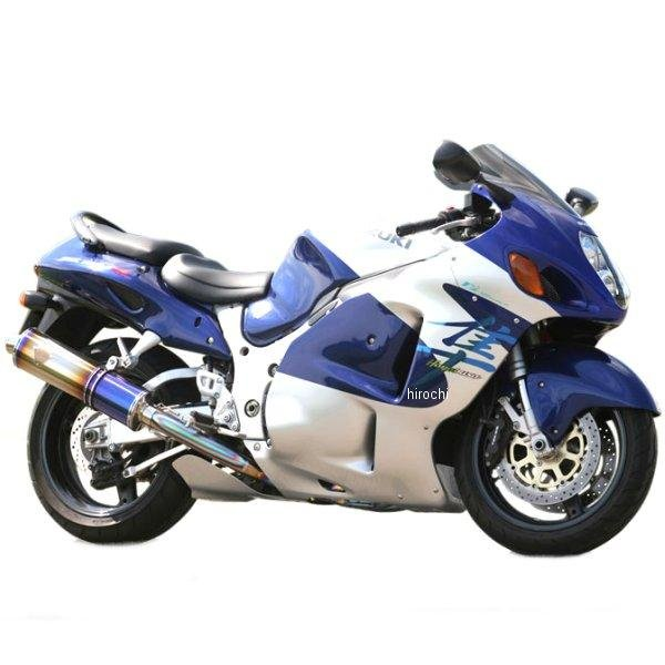 アールズギア r's gear フルエキゾースト ワイバン用 リペアサイレンサー 07年以前 ハヤブサ GSX1300R 真円ドラッグブルー (デュアル用 右側) WS02-02DB-XR JP店