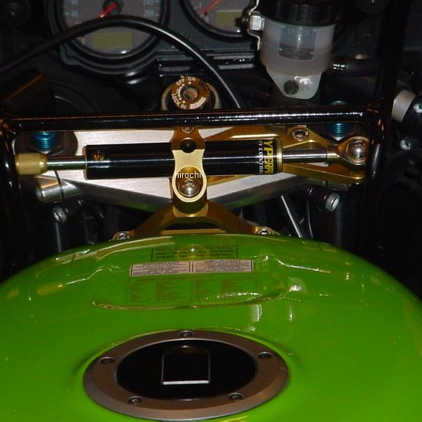 ハイパープロ HYPERPRO CNCステアリングダンパーステー 75mm/TYPE-1 00年-01年 Ninja ZX-6R ゴールド 22117023 JP店